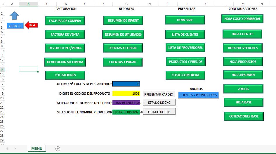 descargar sistema contable en excel gratis