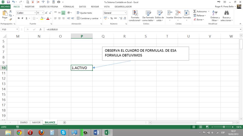 Excel y Contabilidad, Concatenacion1