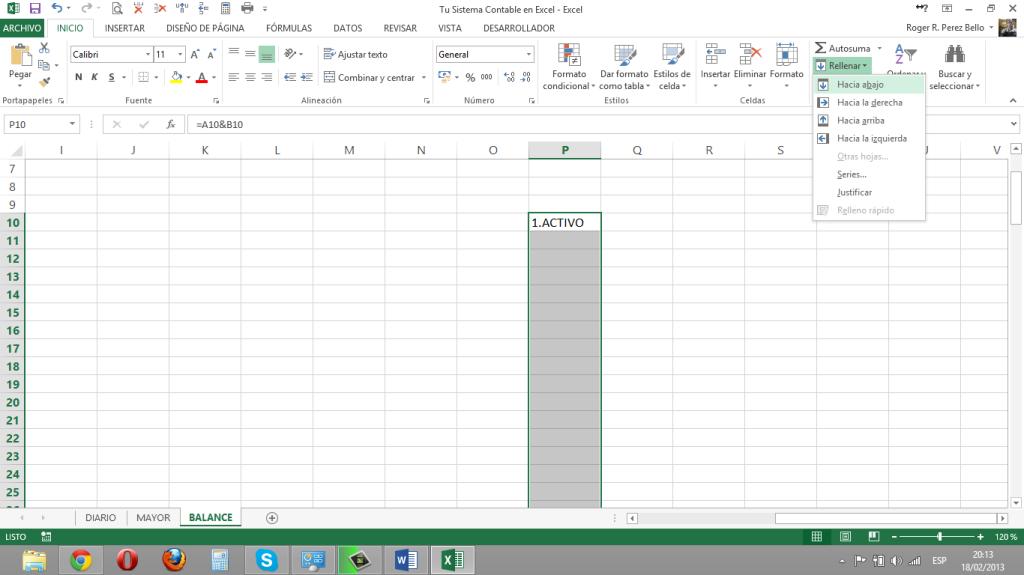 Excel y Contabilidad, Concatenacion2