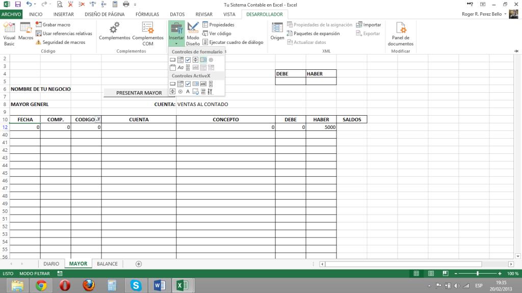 Excel y Contabilidad, ListaM1
