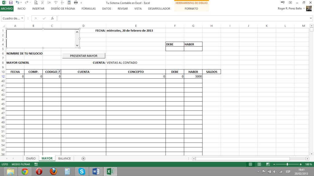 Excel y Contabilidad, ListaM2