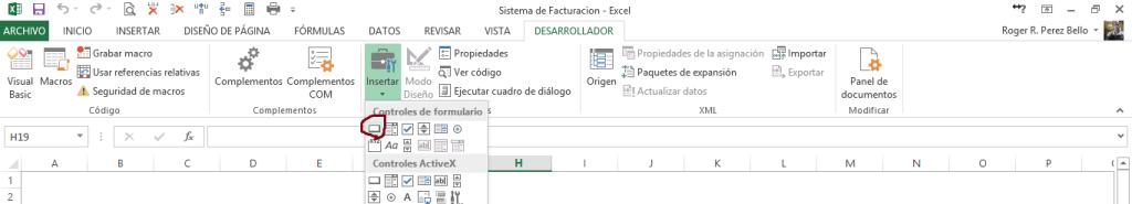 Sistema de Inventarios - Insertando Botones