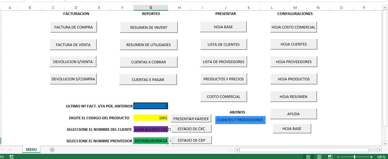 Sistema de Gestion - Facturacion e Inventario V 1.0