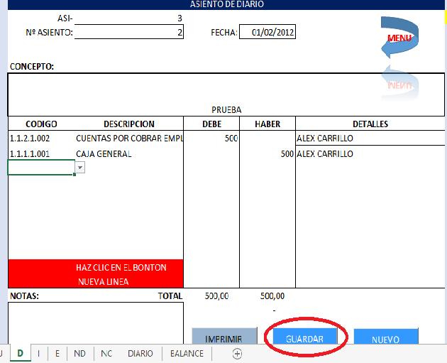 Plantillas Excel - Sistema Contable en Excel