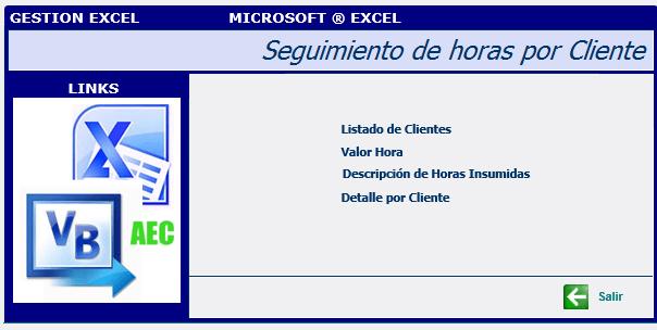Plantillas Excel - Seguimiento de horas por cliente