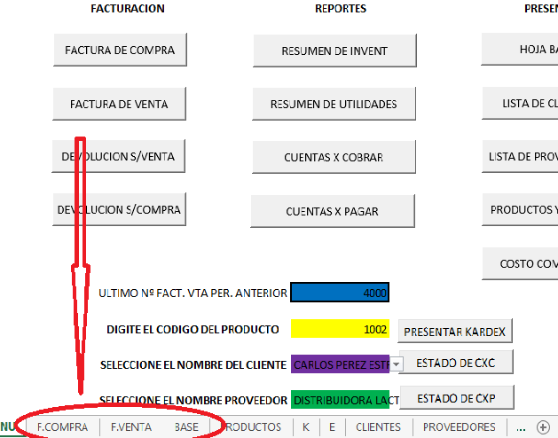 Plantillas Excel Sistema de Facturacion en Excel - blog AEC
