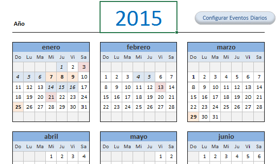 calendario 2015 en excel blog aplica excel contable