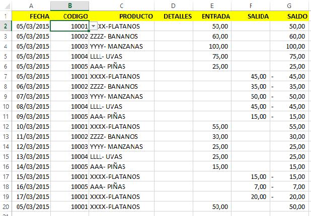 Como Automatizar La Tarjeta De Almacen En Excel Con El