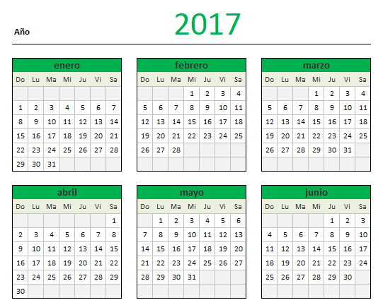 descarga tu calendario 2017 en excel blog aplica excel contable